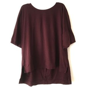 NWOT Madewell Night Shift Dark Purple Top